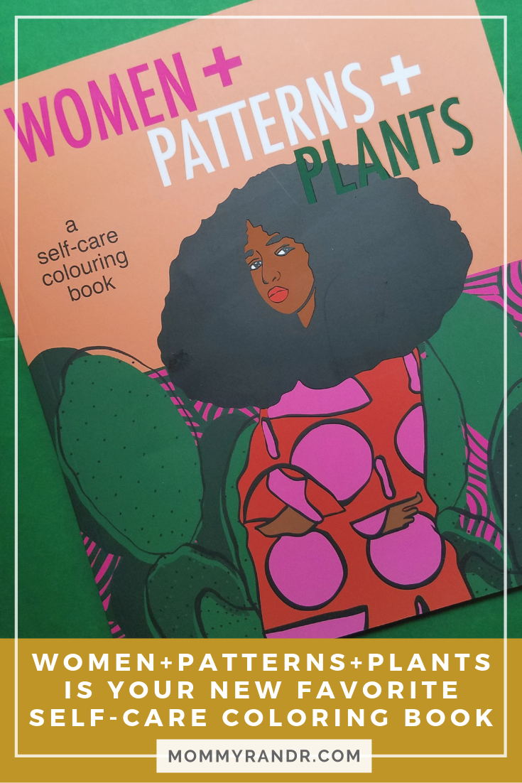 self-care coloring book women+patterns+plants mommyrandr