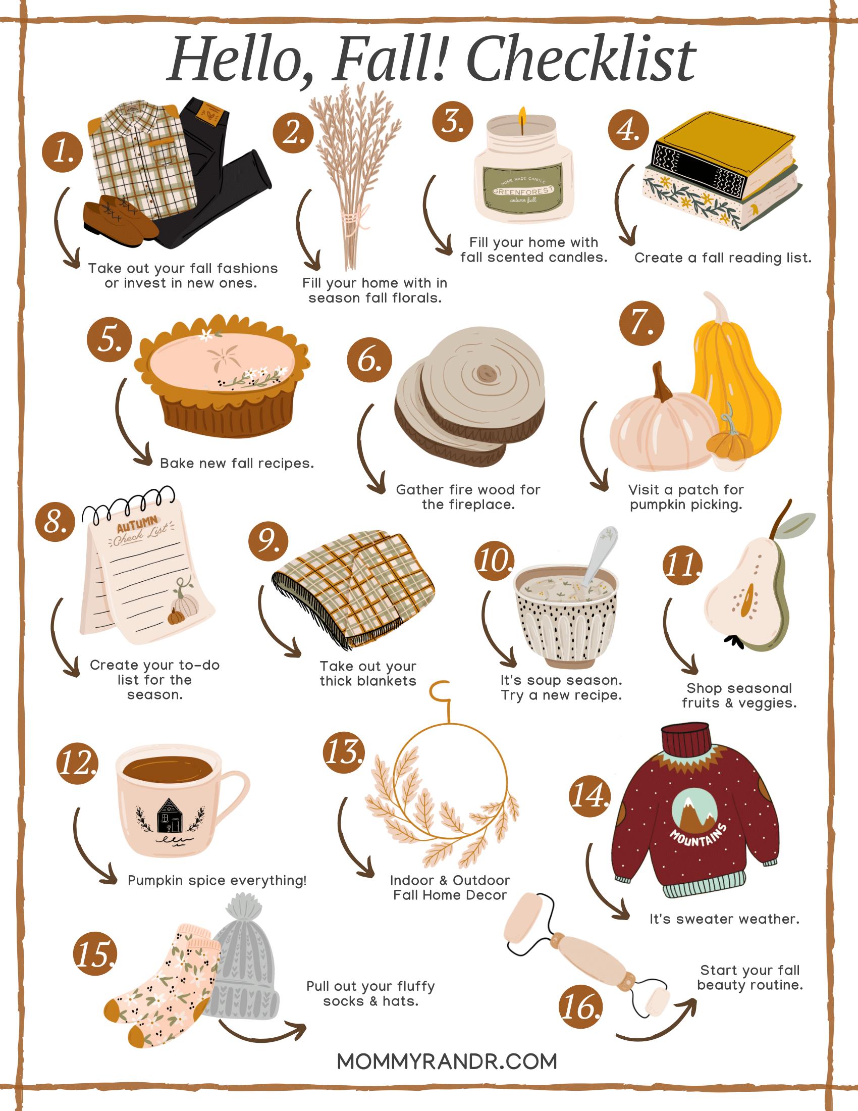 fall checklist mommyrandr